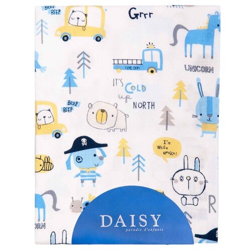 Купить Daisy простыня на резинке Пират 120х60 см белый, Постельное белье и комплекты