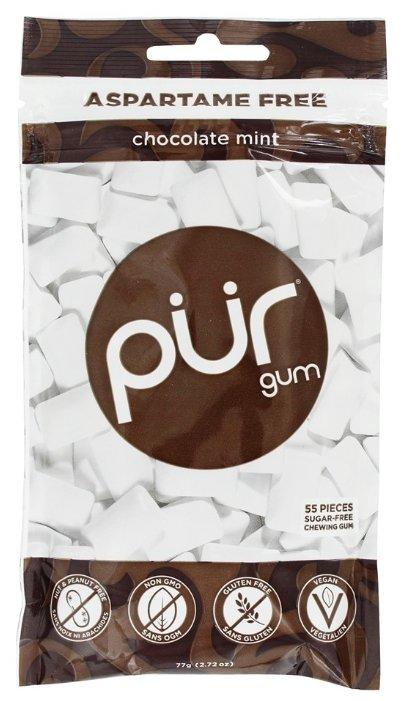 Жевательная резинка PUR Chocolate mint шоколадная мята, 55 шт