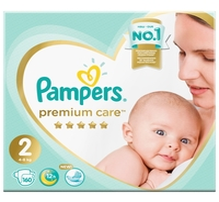 Pampers подгузники Premium Care 2 (4-8 кг) 160 шт.