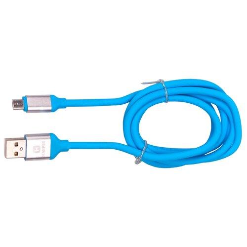 Кабель HARPER USB - microUSB (SCH-330) 1 м голубойКомпьютерные кабели, разъемы, переходники<br>