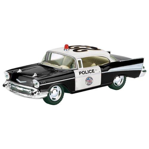 Легковой автомобиль Kinsmart 1957 Chevrolet Bel Air (KT5323W) 1:40 12.5 см черный/белый