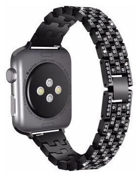 Orange Box Ремешок для Apple Watch 38 mm металлический со стразами
