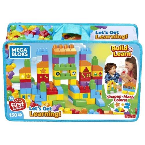 mega bloks машинка mega bloks first builders Конструктор Mega Bloks First Builders FVJ49 Набор обучающих блоков