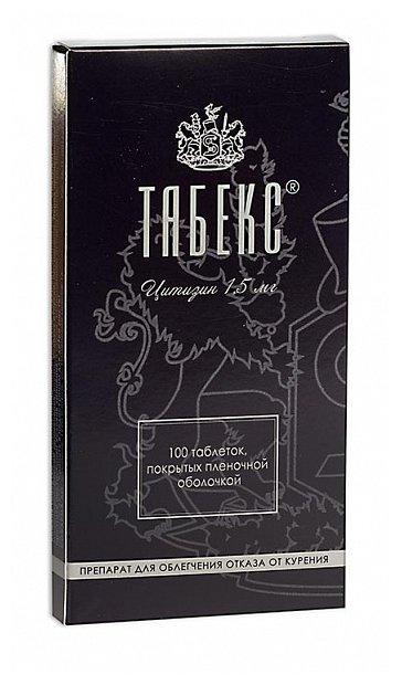 Табекс таб. п.п.о. 1,5мг №100 — купить по выгодной цене на Яндекс.Маркете