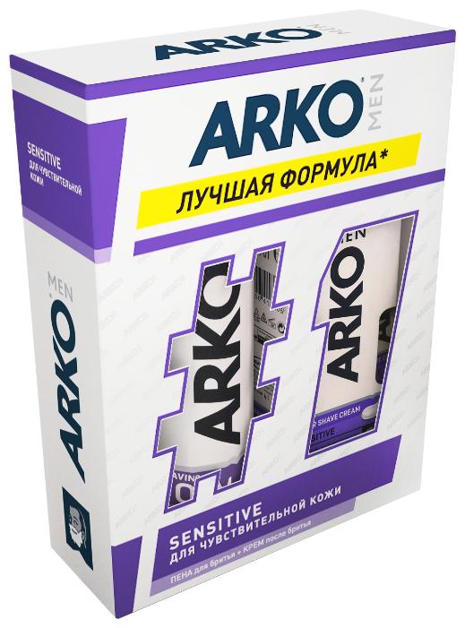 Набор Sensitive (пена для бритья + крем после бритья) Arko