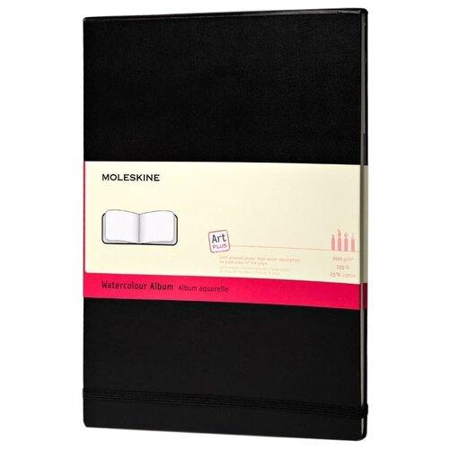 Купить Скетчбук для акварели Moleskine Classic Watercolour Notebook 14 х 9 см, 200 г/м², 30 л. черный, Альбомы для рисования