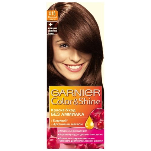 GARNIER Color & Shine краска-уход для волос, 4.15, Морозный КаштанКраска<br>