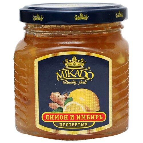 Протертая ягода Mikado лимон и имбирь, банка 320 гВаренье, повидло, протертые ягоды<br>