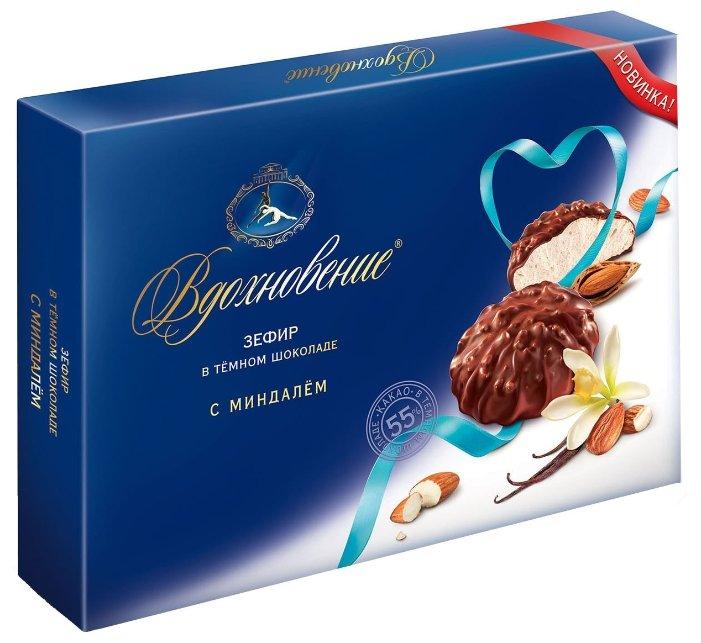 Зефир Вдохновение в темном шоколаде с миндалем, 275 гр.