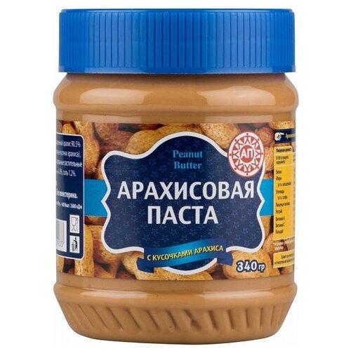 АП Арахисовая паста с кусочками арахиса, 340 гШоколадная и ореховая паста<br>