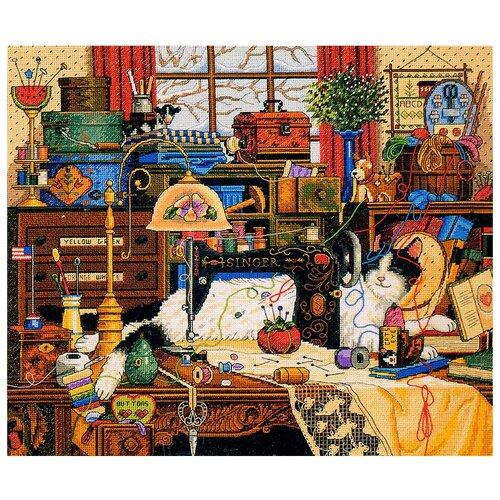 Купить Dimensions Набор для вышивания Maggie The Messmaker (Мэгги-рукодельница) 36 х 30 см (03884), Наборы для вышивания