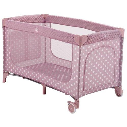 Манеж-кровать Happy Baby Martin rose манеж кровать baby care ob 888 серый бежевый