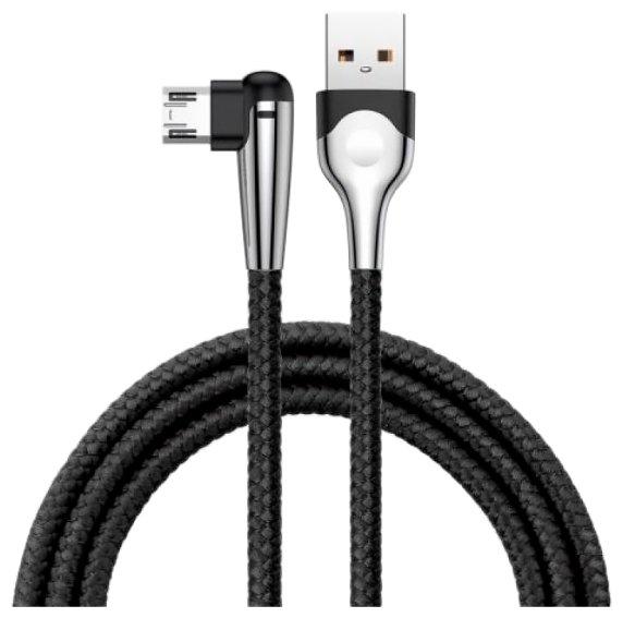 Кабель Baseus MVP Elbow USB - microUSB (CAMMVP-E01) 1 м черный фото 1