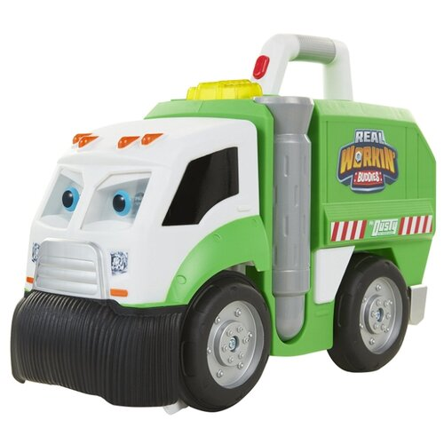 цена на Мусоровоз JAKKS Pacific Real Workin' Buddies Mr. Dusty (583850) 38 см белый/зеленый