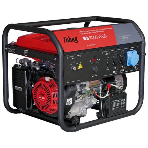 Бензиновый генератор Fubag BS 5500 A ES (5000 Вт) бензиновый генератор fubag bs 6600 a es 6000 вт