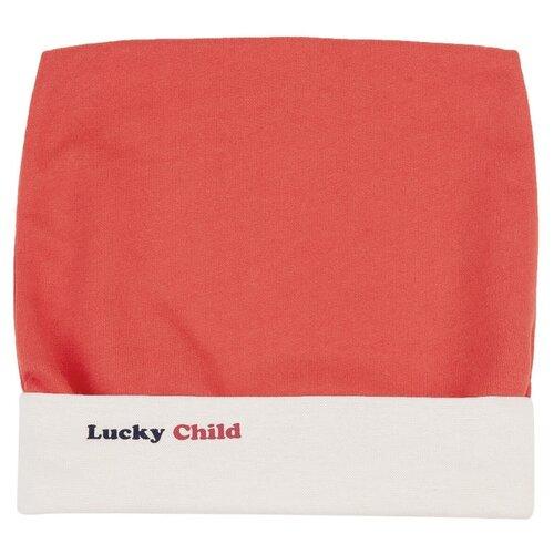 Шапка lucky child размер 45, красный