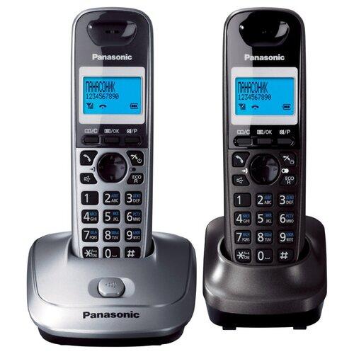 Радиотелефон Panasonic KX-TG2512 серый металлик/темно-серый металлик