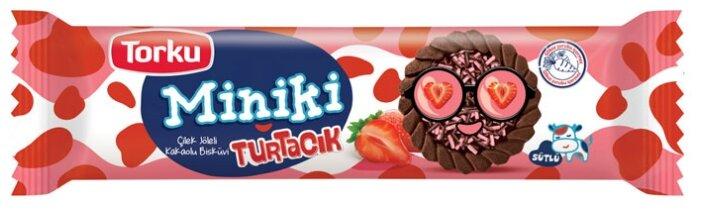 Печенье Torku Miniki с какао, клубничным джемом и шоколадными гранулами, 102 г