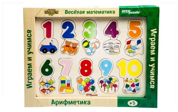 Рамка-вкладыш Step puzzle Весёлая математика. Арифметика (89202), 20 дет.