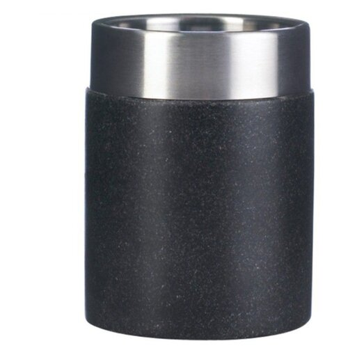 Стакан для зубных щеток RIDDER Stone черныйМыльницы, стаканы и дозаторы<br>