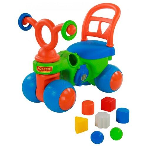 Каталка-толокар Coloma Y Pastor Крокодильчик (46154) зеленый/голубой/оранжевый каталка толокар orion toys мотоцикл 2 х колесный 501 зеленый