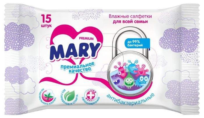 Влажные салфетки Mary антибактериальные для всей семьи