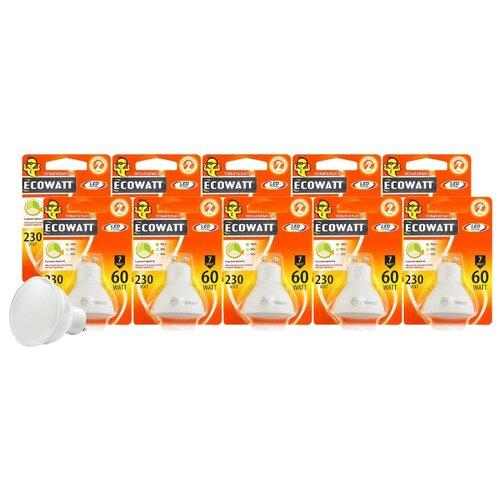 Упаковка светодиодных ламп 10 шт Ecowatt GU10, GU10, 7 Вт, 3000 КЛампочки<br>