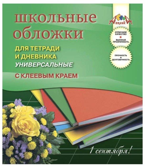 Апплика Обложки для дневника и тетради с клеевым краем, 5 штук (С2252-01)