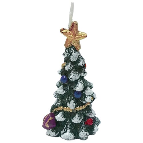 Свеча Феникс Present новогодняя Ёлочка со звездой (78319) зеленый
