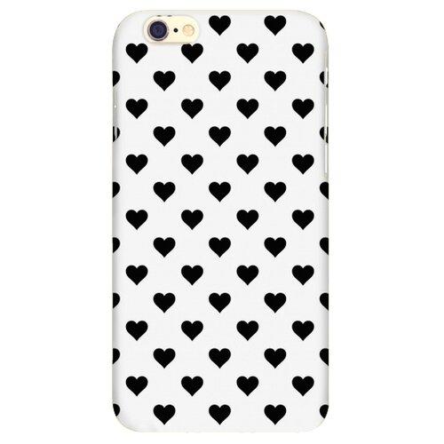 Чехол Mitya Veselkov IP6.MITYA-321 для Apple iPhone 6/iPhone 6S черные сердечки на беломЧехлы<br>