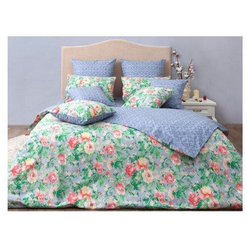 Постельное белье 2-спальное Хлопковый Край Цветочные сны Джулия 70 x 70 бязь грей