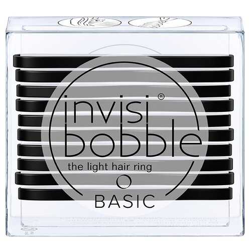 Резинка Invisibobble BASIC 10 шт. true black косметика invisibobble