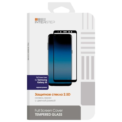 Защитное стекло INTERSTEP Full Screen Cover для Samsung Galaxy J6 черный защитное стекло interstep для galaxy s7 black is tg samgs7fsb 000b201