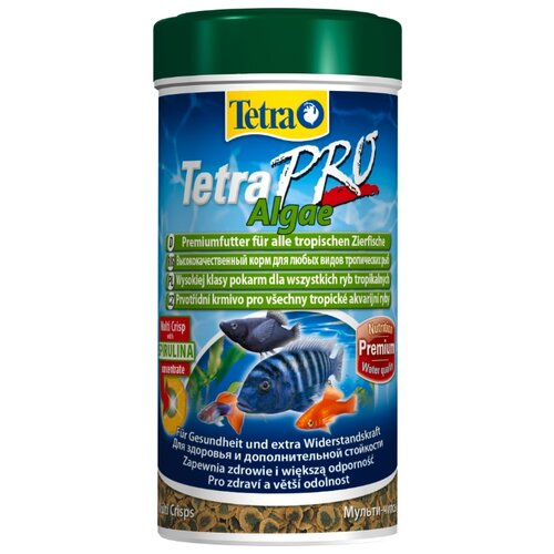 Сухой корм Tetra TetraPro Algae для рыб 250 млКорма для рыб и рептилий<br>