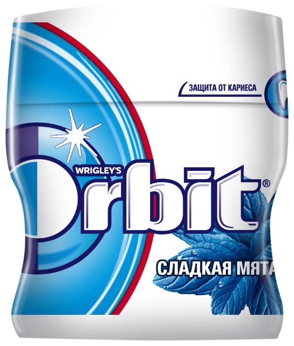 Жевательная резинка Orbit Сладкая мята, без сахара, банка 54.4 г