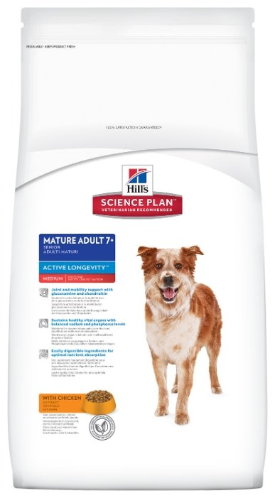 Корм для собак Hill's Science Plan Canine Mature Adult 7+ Active Longevity Medium with Chicken