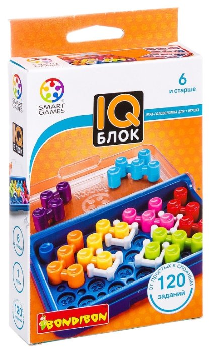 Головоломка BONDIBON Smart Games IQ-Блок (ВВ1354)
