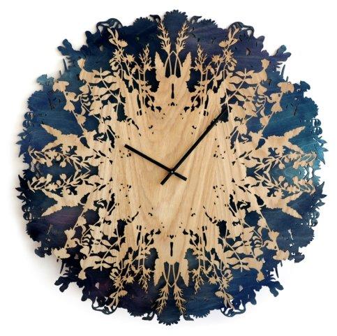 Часы настенные кварцевые Roomton Botanica Blue 003/60/BL