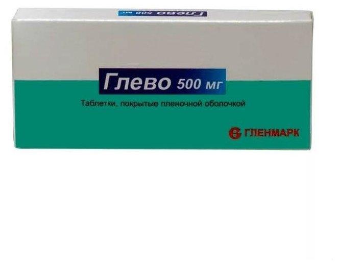 Глево таб. п/о плен. 500 мг №25
