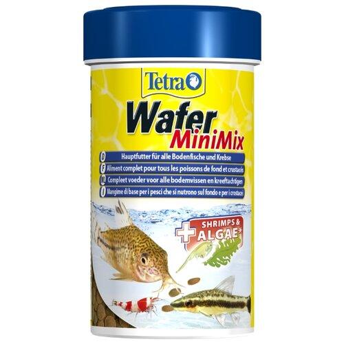 Сухой корм для рыб, ракообразных Tetra Wafer Mini Mix 100 мл корм сухой prodac algae wafer mini для аквариумных пресноводных рыб в таблетках 135 г