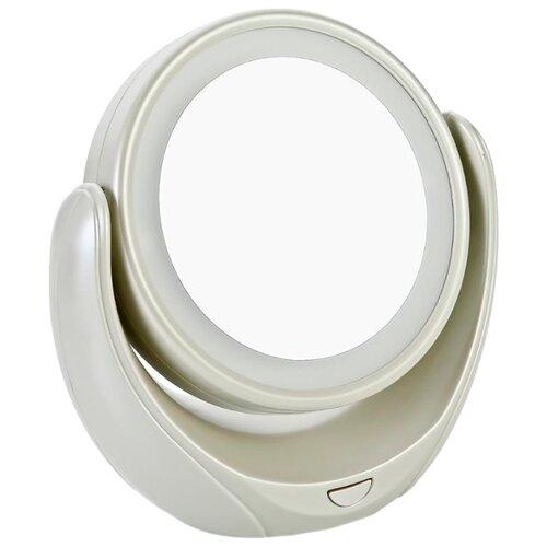 Зеркало косметическое настольное MARTA MT-2653 с подсветкой молочный жемчуг зеркало косметическое настольное marta mt 2653 с подсветкой молочный жемчуг