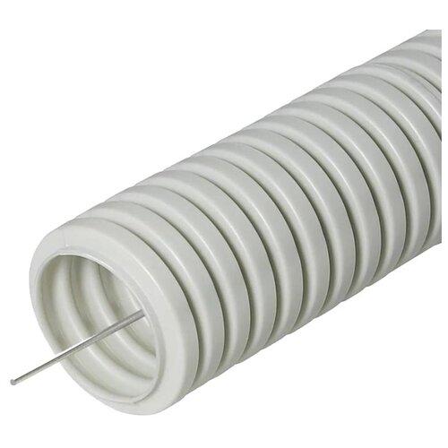 Труба гофрированная ПВХ с зондом Урал ПАК 20 мм x 100 м серый серый