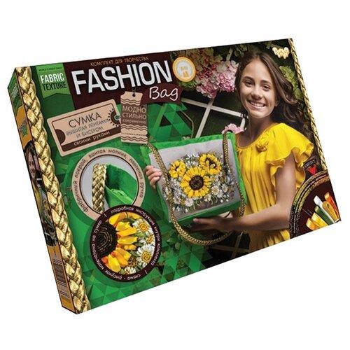 Купить Danko Toys Набор для вышивания лентами и бисером Fashion Bag Подсолнухи (FBG-01-01), Наборы для вышивания