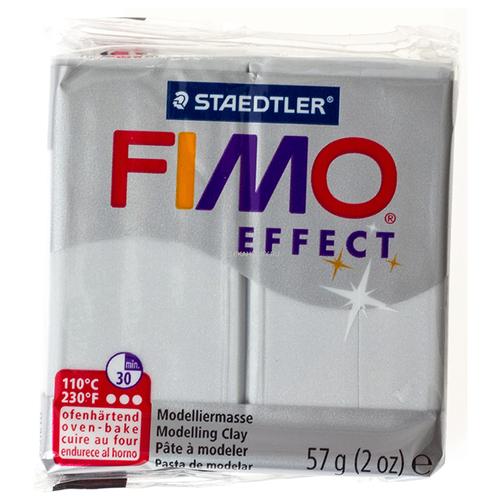 Полимерная глина FIMO Effect запекаемая перламутровый светло-серебристый (8020-817), 57 г