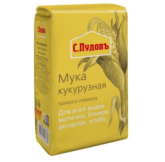 Мука С.Пудовъ кукурузная, 0.45 кг