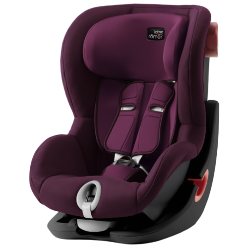 Автокресло группа 1 (9-18 кг) BRITAX ROMER King II, burgundy red black series автокресло britax romer king ii black series wine rose trendline