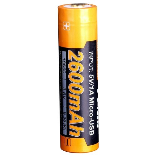 Фото - Аккумулятор Li-Ion 2600 мА·ч Fenix 18650 ARB-L18-2600U, 1 шт. аккумулятор li ion 550 ма·ч robiton 16340 кол во в упаковке 2 шт