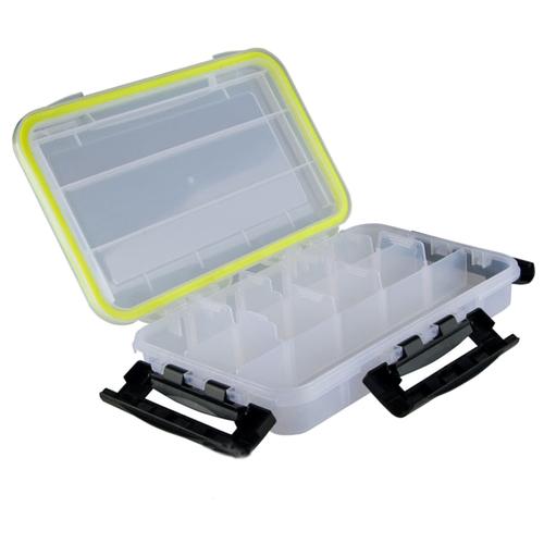 Коробка для приманок для рыбалки HELIOS HS-ZY-050 27х17х5 см прозрачный/черный