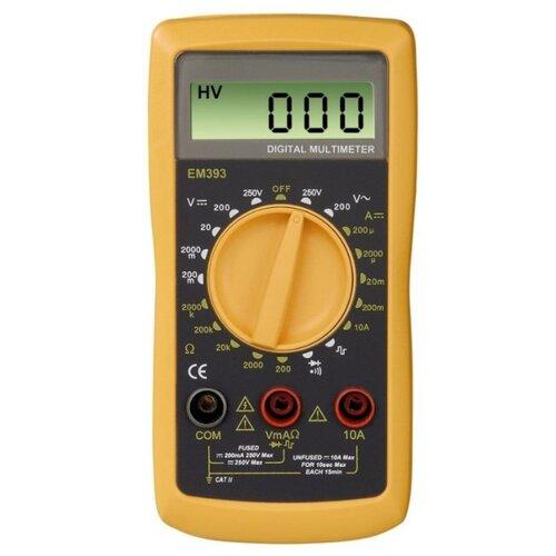Мультиметр цифровой HAMA EM393 гель лак для ногтей runail indi laque 4258 красный с мелкими блестками 9мл