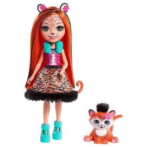 Купить Кукла Enchantimals Тензи Тигра с любимой зверюшкой, 15 см, FRH39, Куклы и пупсы